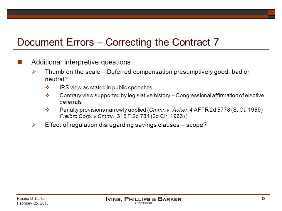 Document Errors – Correcting the Contract 7