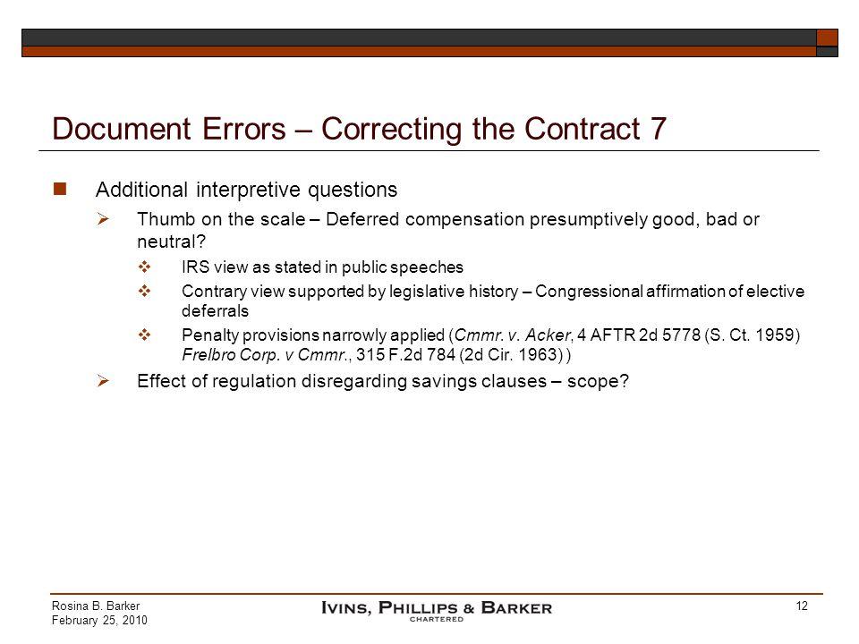 Document Errors – Correcting the Contract 7