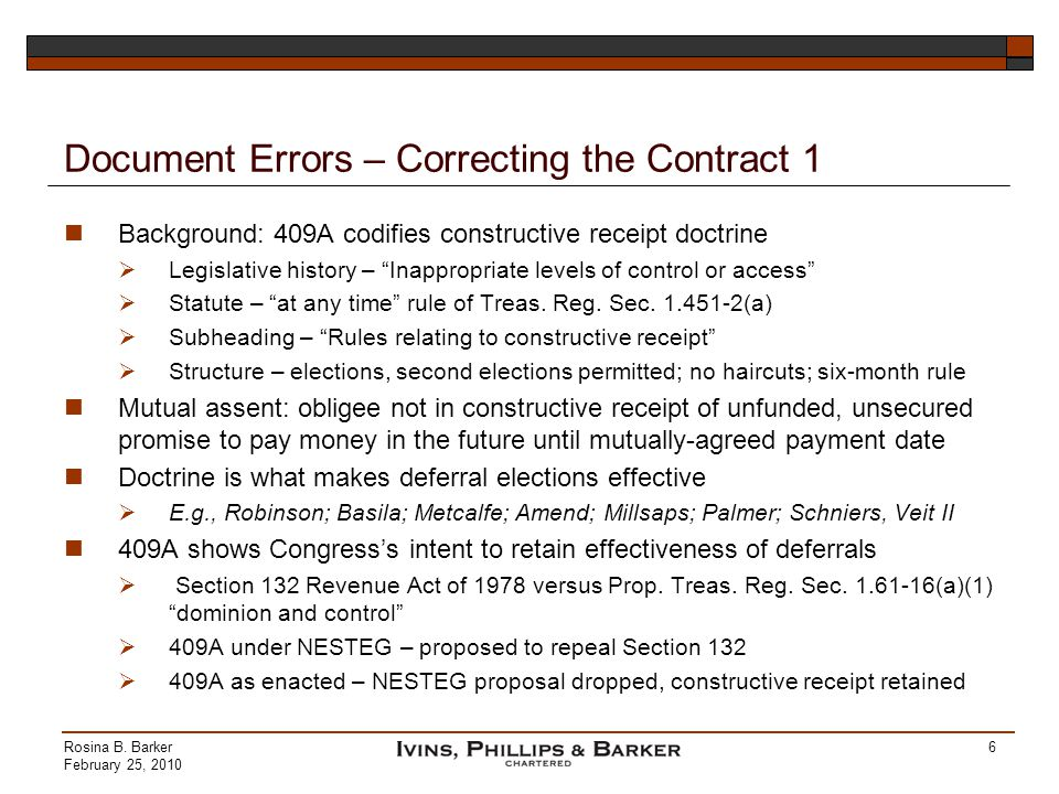 Document Errors – Correcting the Contract 1