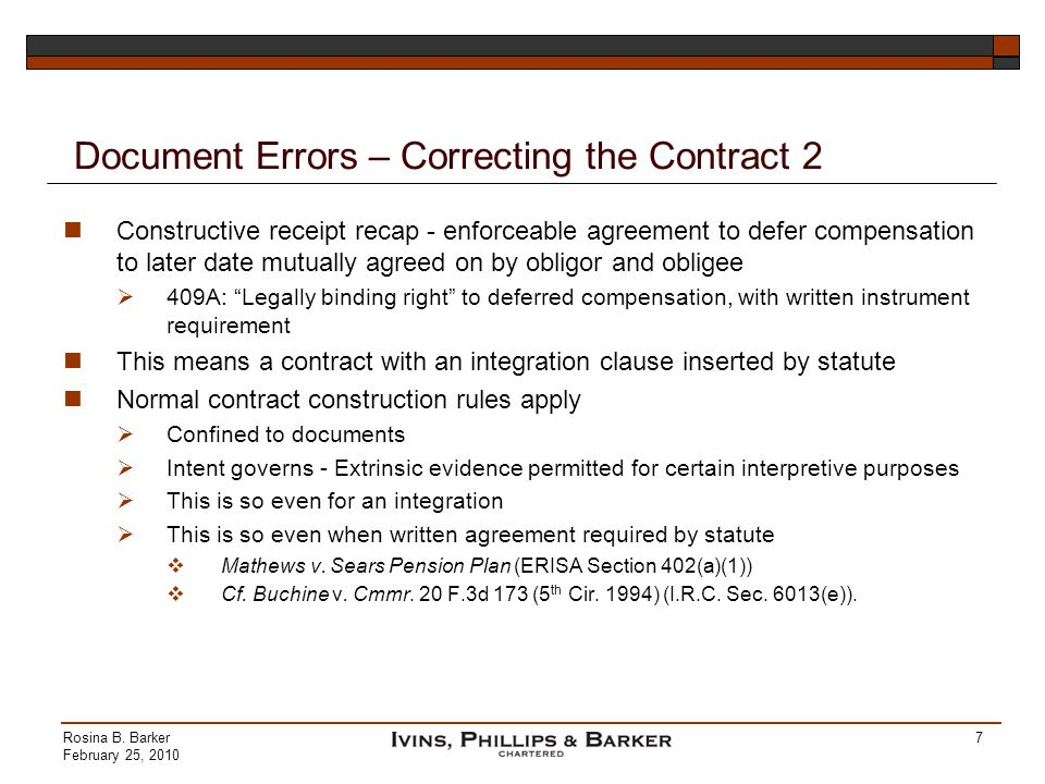 Document Errors – Correcting the Contract 2