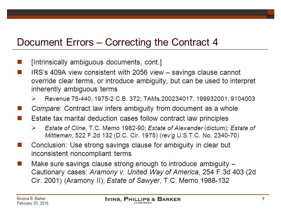 Document Errors – Correcting the Contract 4