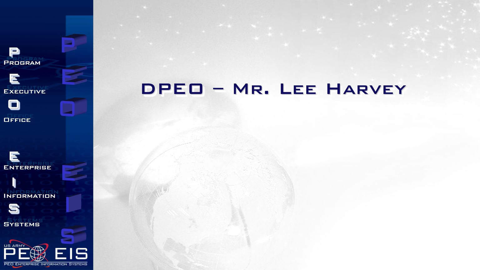 DPEO – Mr. Lee Harvey