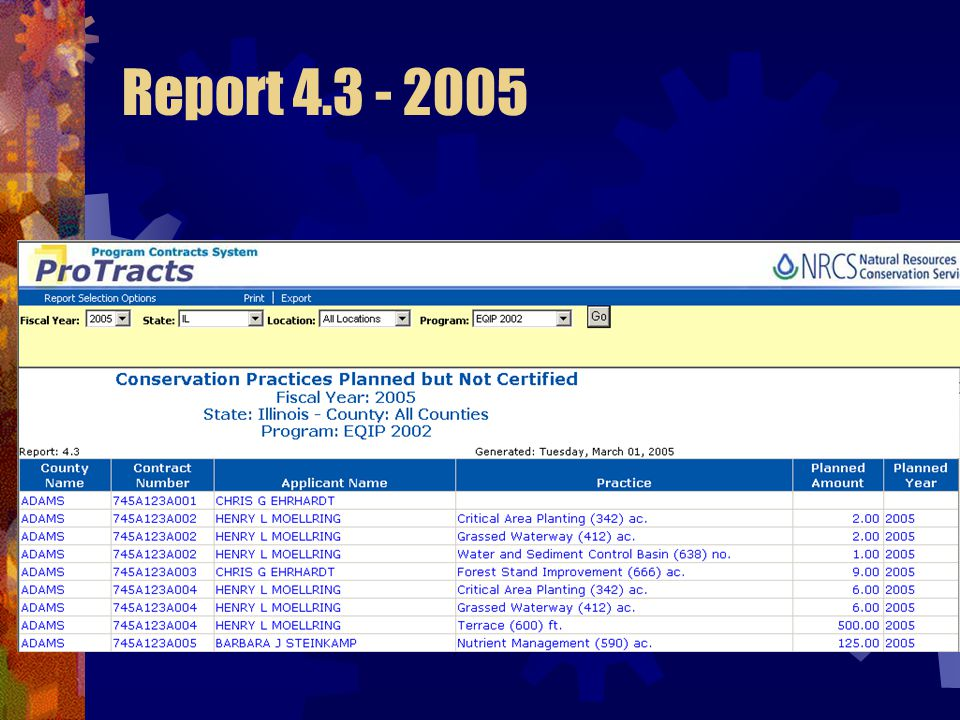 Report 4.3 - 2005