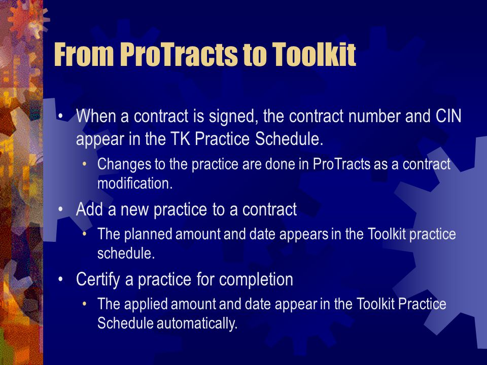 From ProTracts to Toolkit