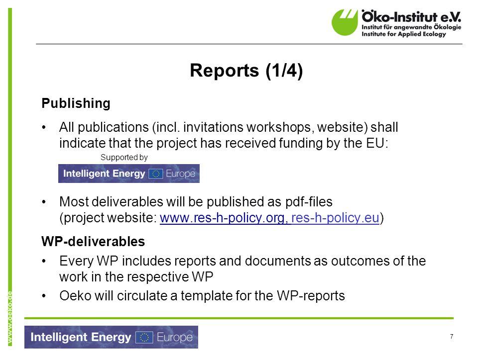 Reports (1/4) Publishing
