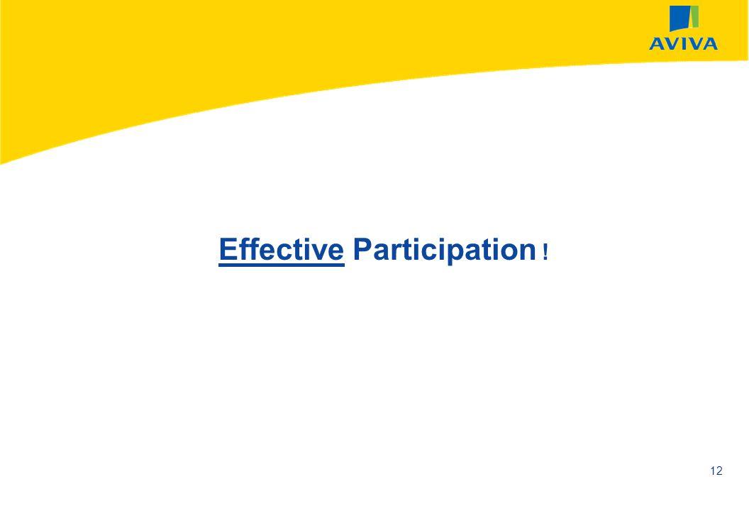 Effective Participation !