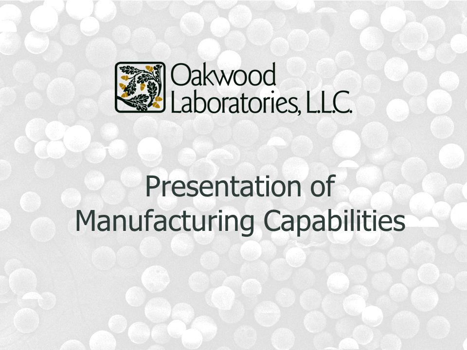 Presentation of Manufacturing Capabilities