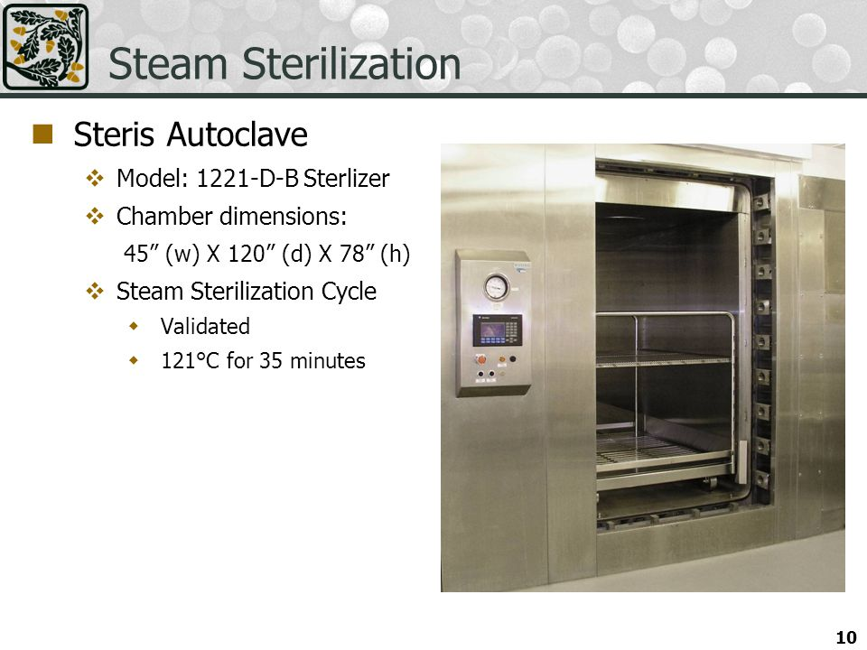 Steam Sterilization Steris Autoclave Model: 1221-D-B Sterlizer