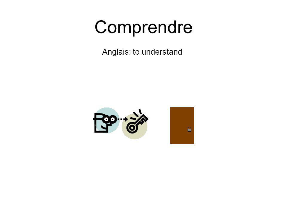 Anglais: to understand