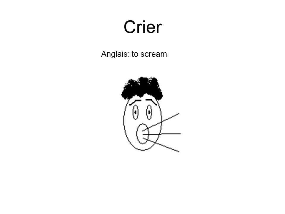 Crier Anglais: to scream