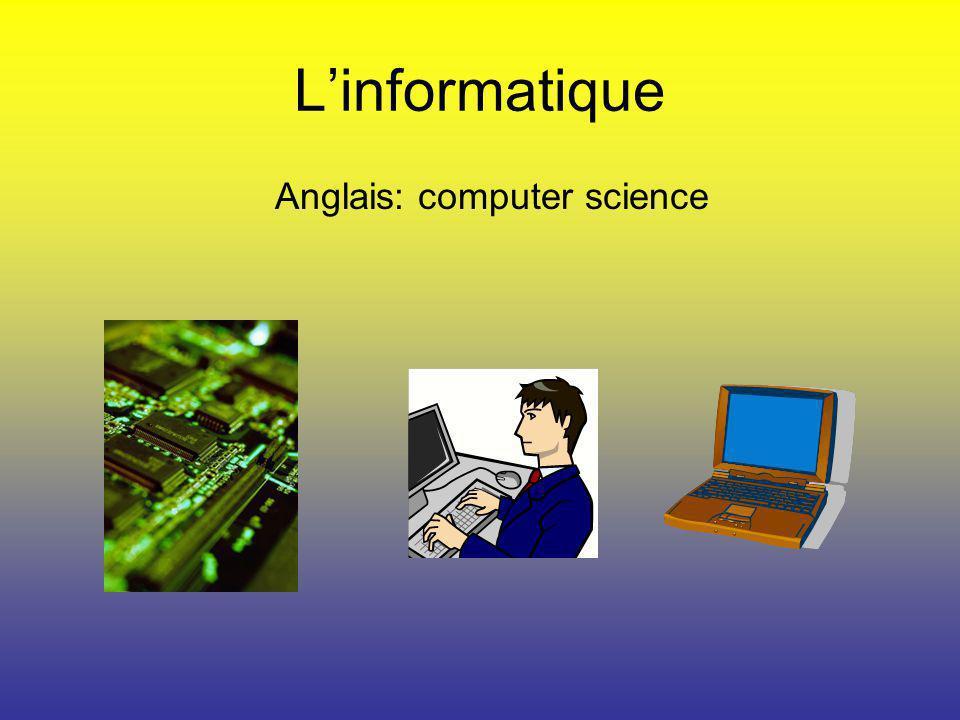 Anglais: computer science