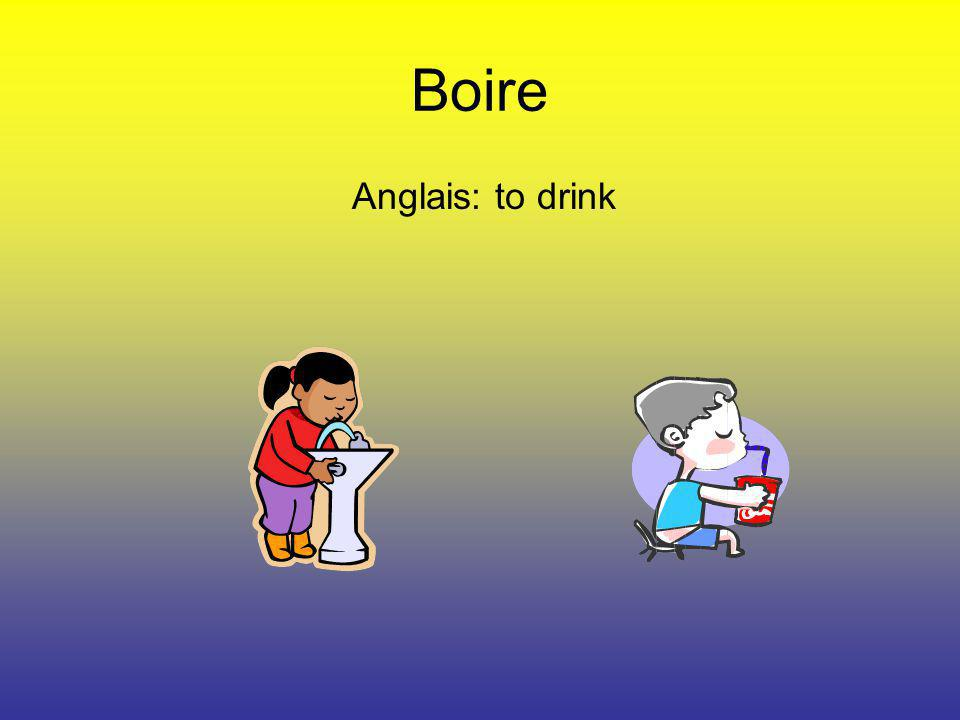 Boire Anglais: to drink