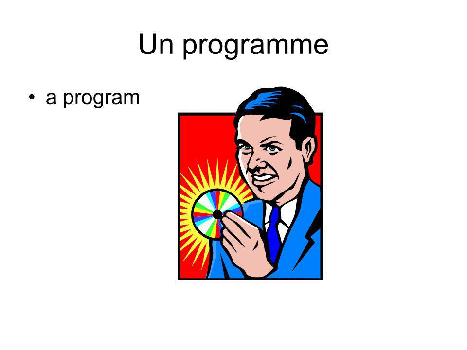 Un programme a program