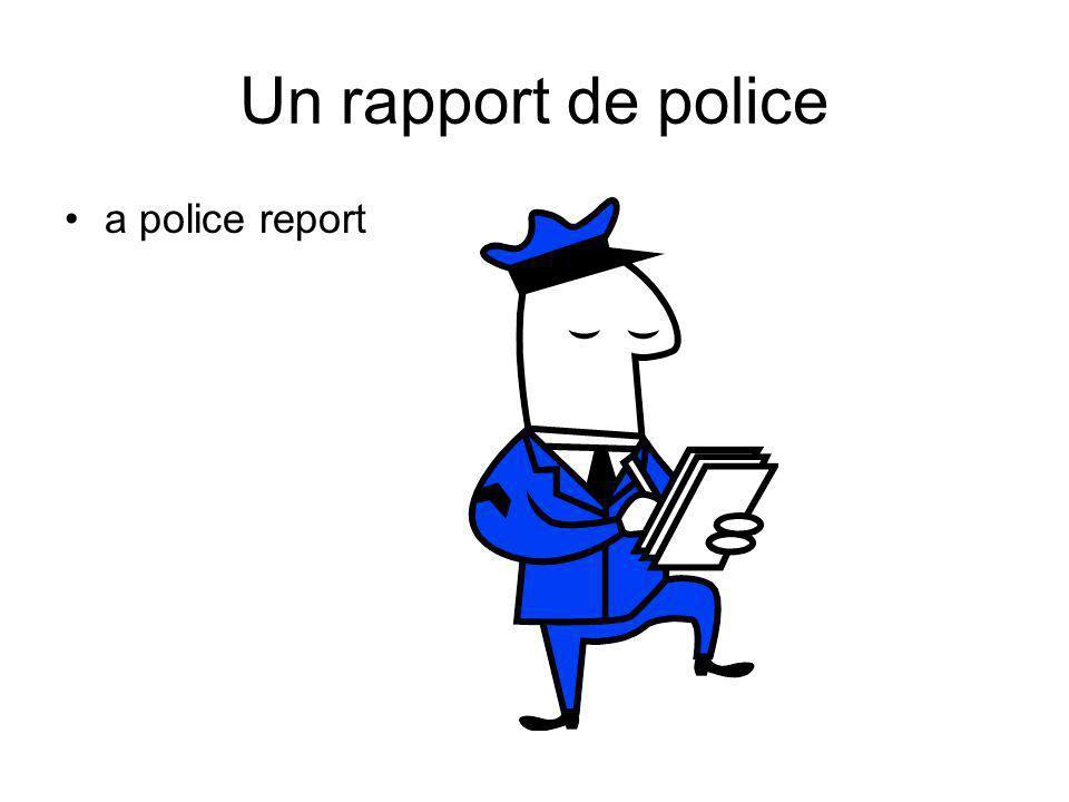 Un rapport de police a police report
