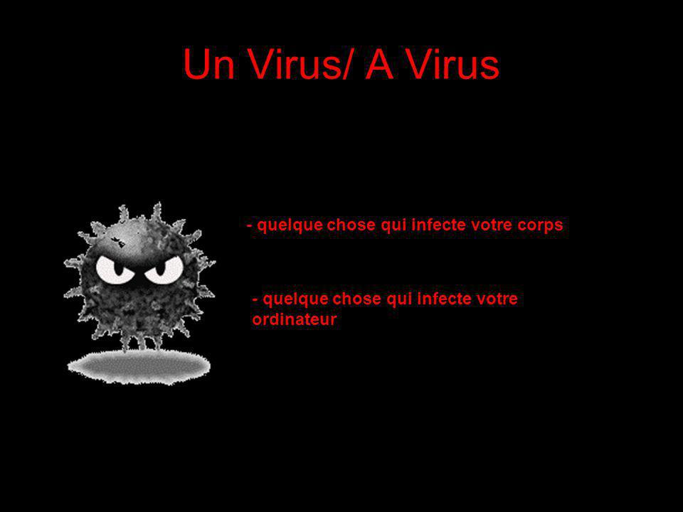 Un Virus/ A Virus - quelque chose qui infecte votre corps -