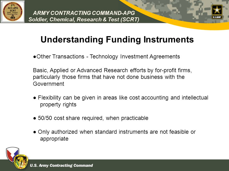Understanding Funding Instruments