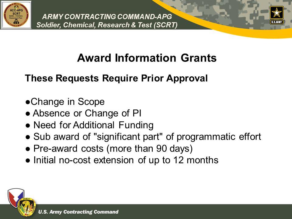Award Information Grants