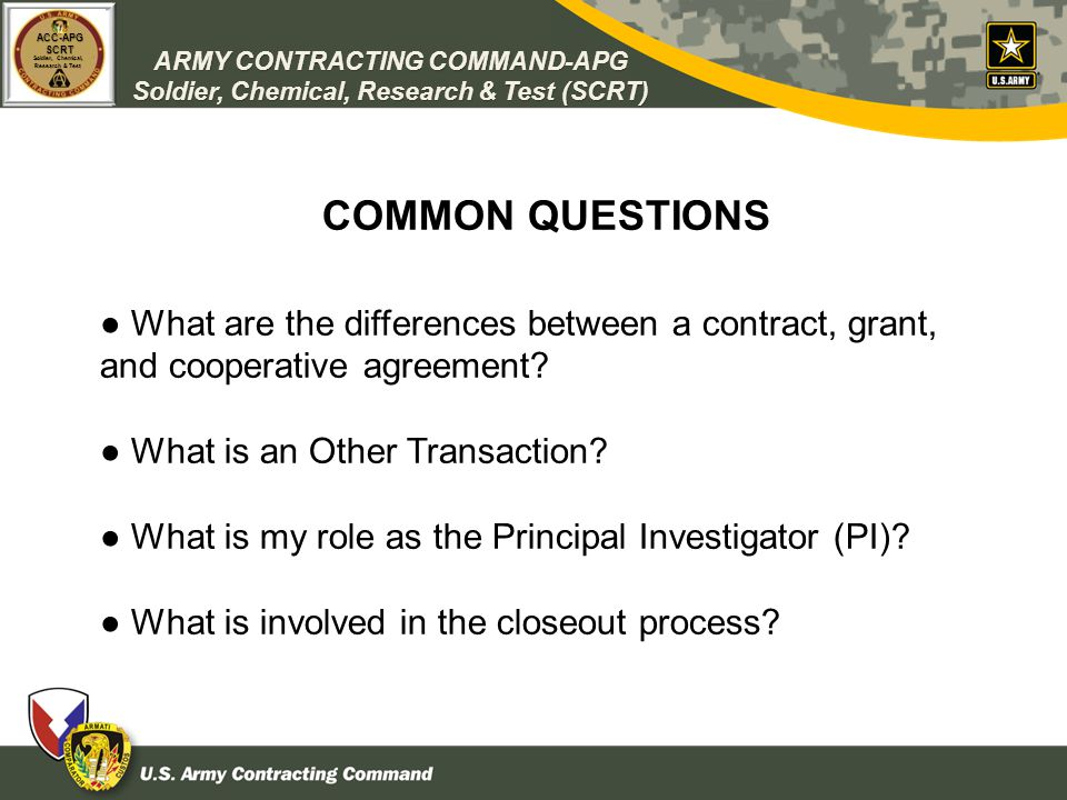 Dod ContractingGrant Policies  Procedures And Research