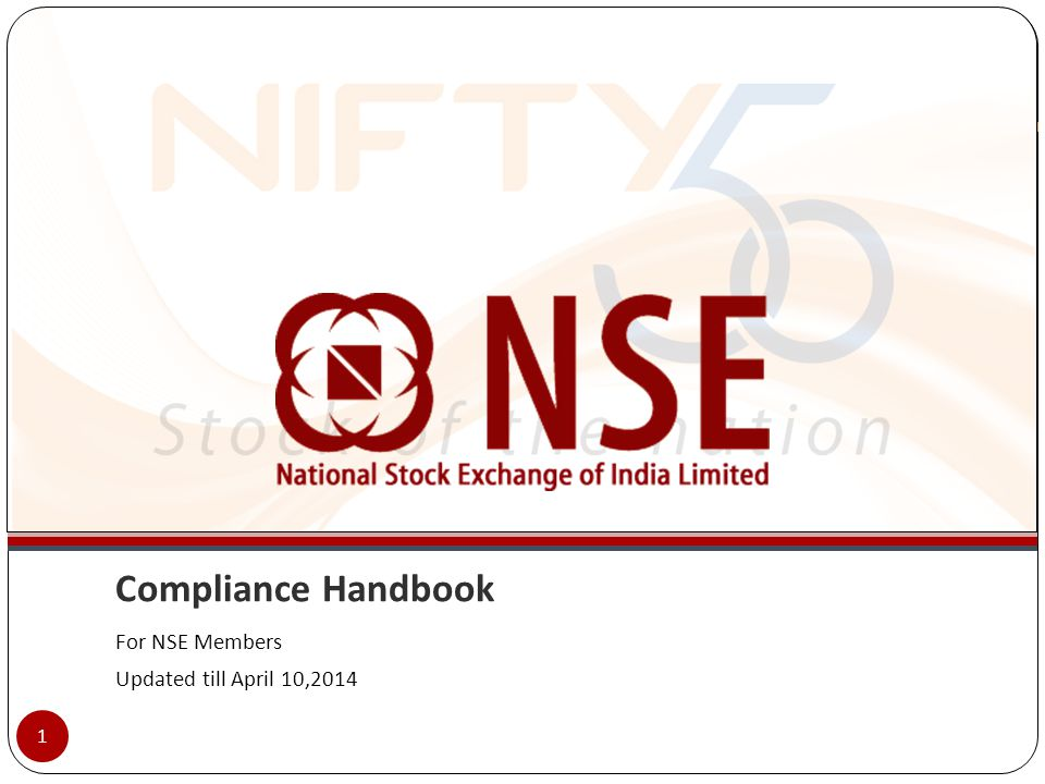 Compliance Handbook For NSE Members Updated till April 10,2014