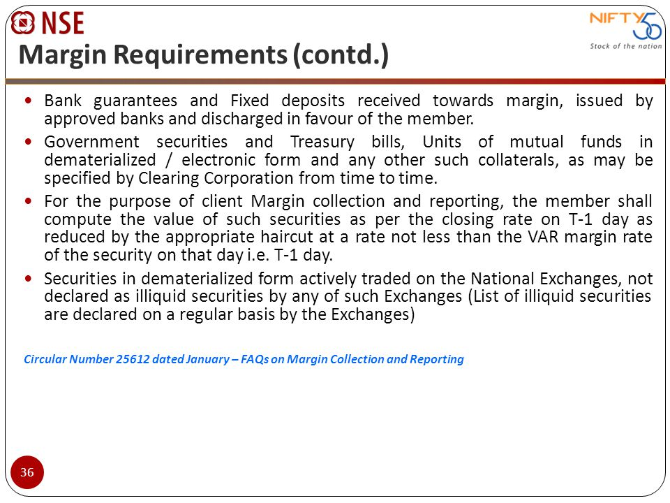 Margin Requirements (contd.)
