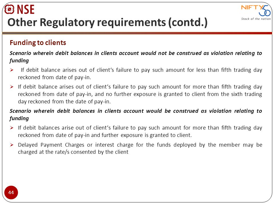 Other Regulatory requirements (contd.)