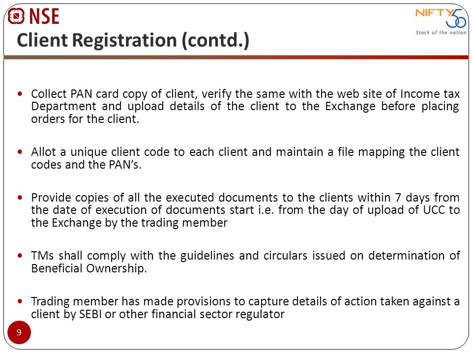 Client Registration (contd.)