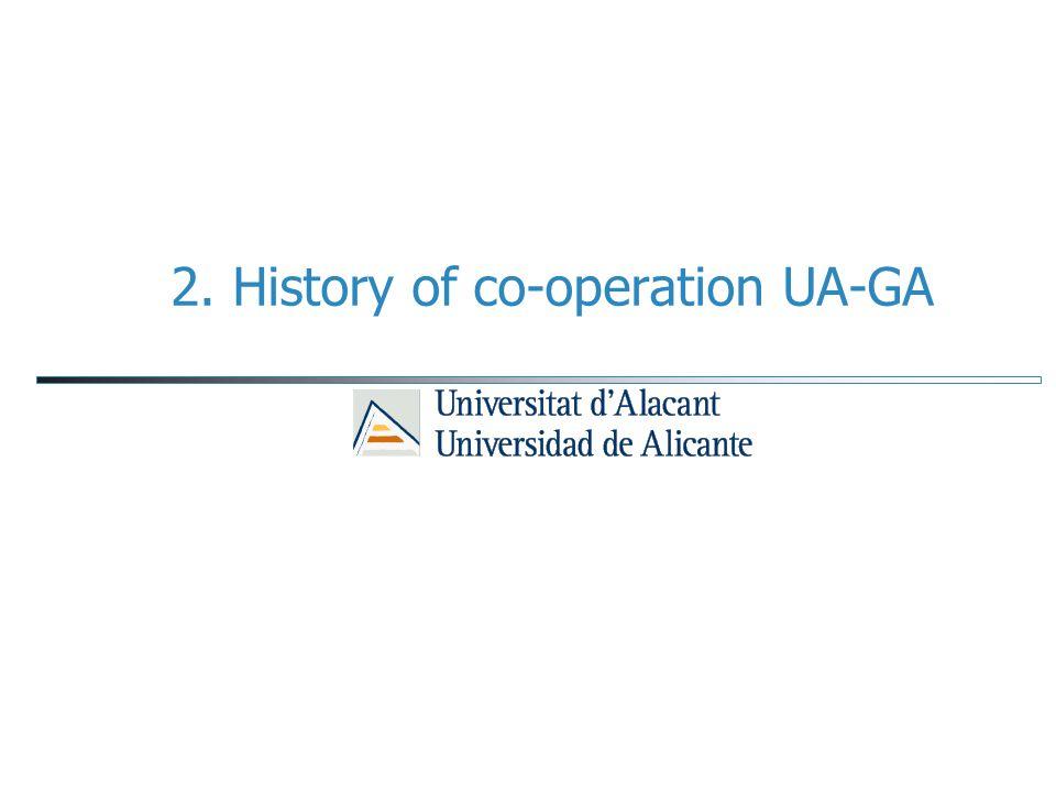 2. History of co-operation UA-GA