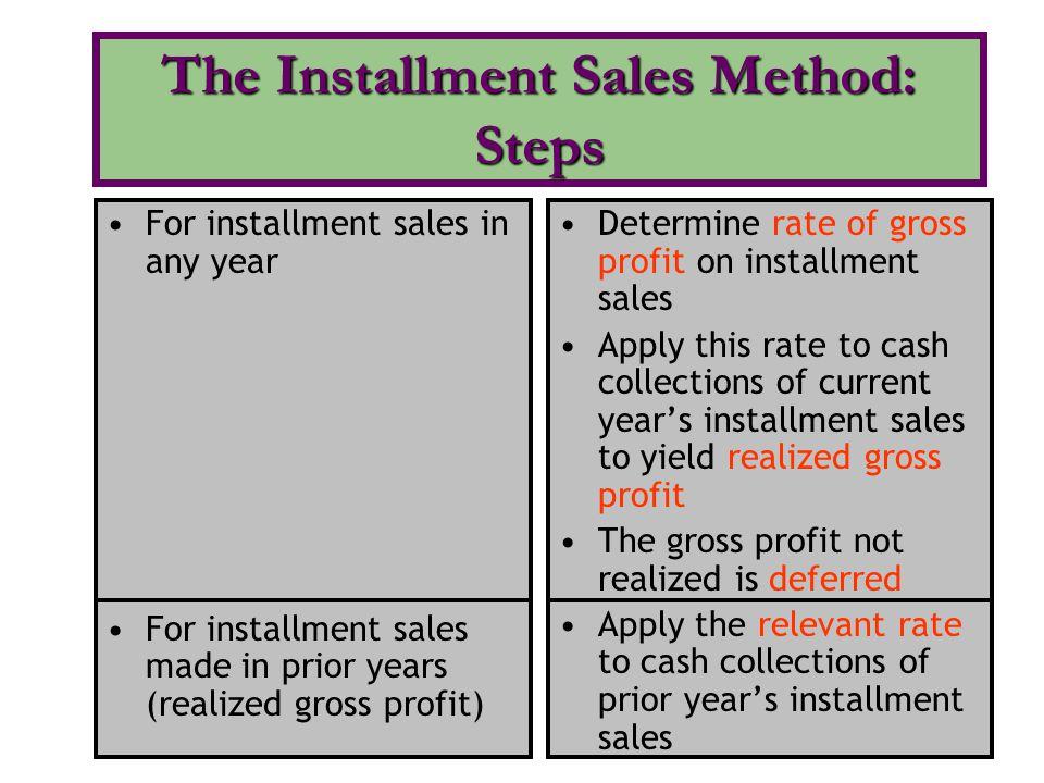 The Installment Sales Method: Steps