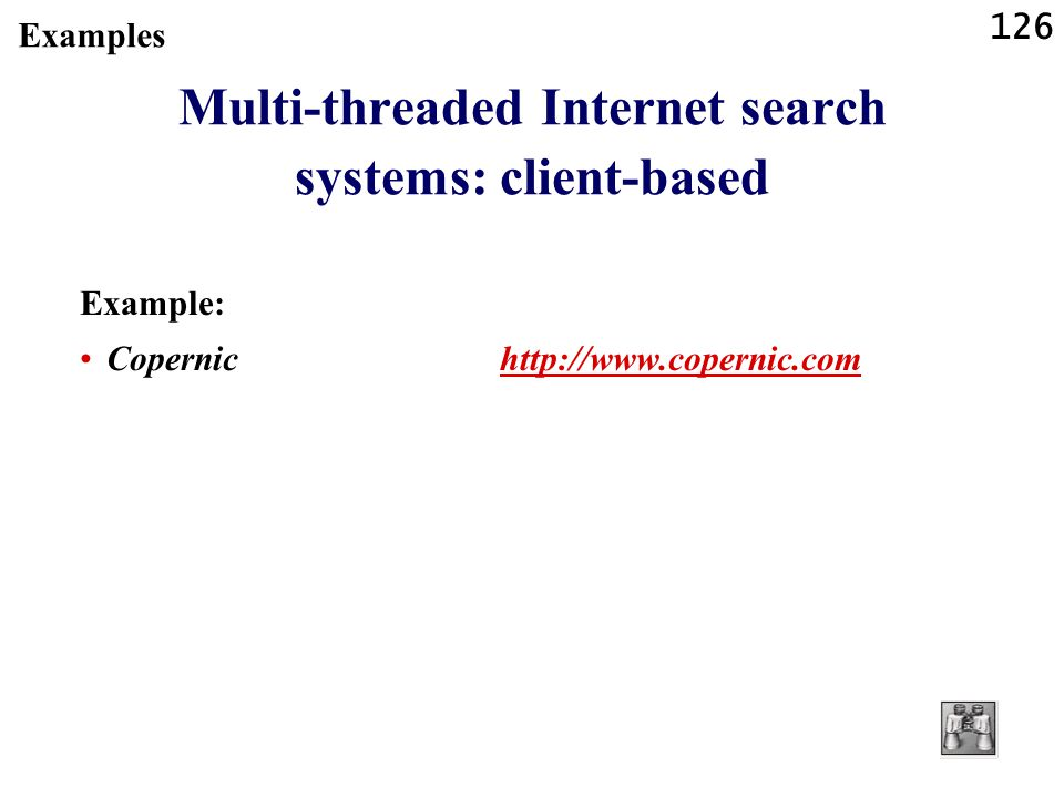 Multi-threaded Internet search systems: client-based