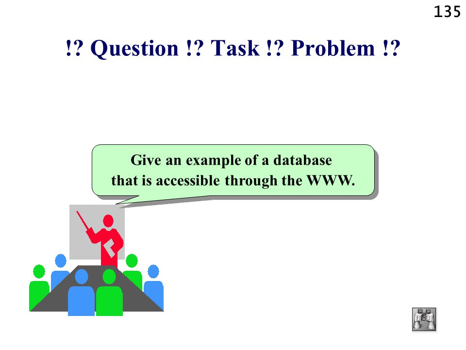 Give an example of a database that is accessible through the WWW.