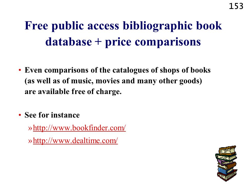 Free public access bibliographic book database + price comparisons