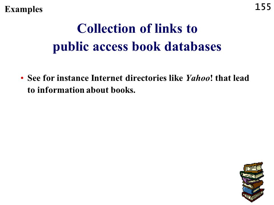 Collection of links to public access book databases