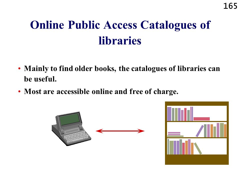 Online Public Access Catalogues of libraries