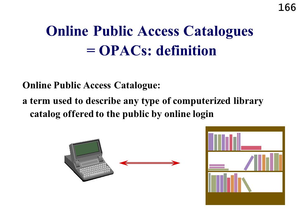Online Public Access Catalogues = OPACs: definition