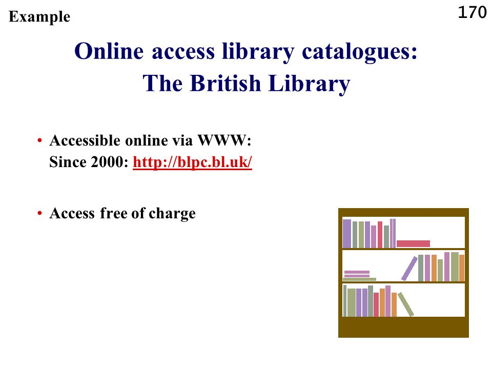 Online access library catalogues: The British Library