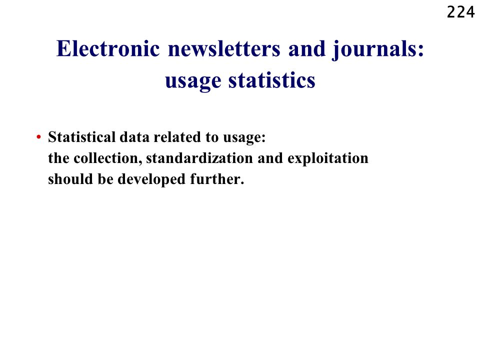 Electronic newsletters and journals: usage statistics
