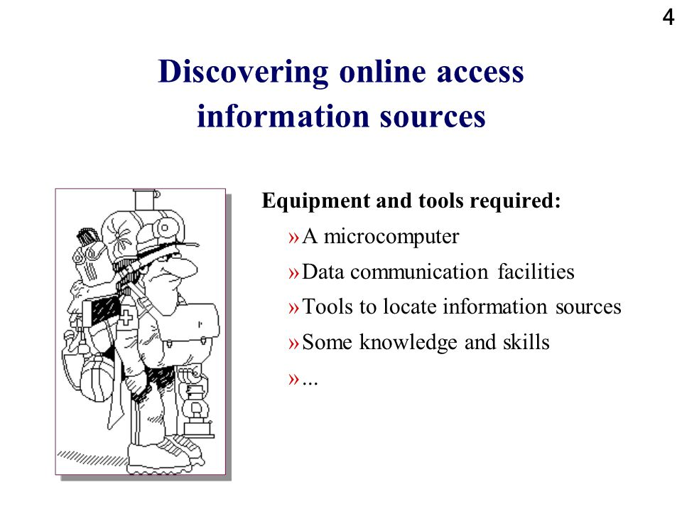 Discovering online access information sources