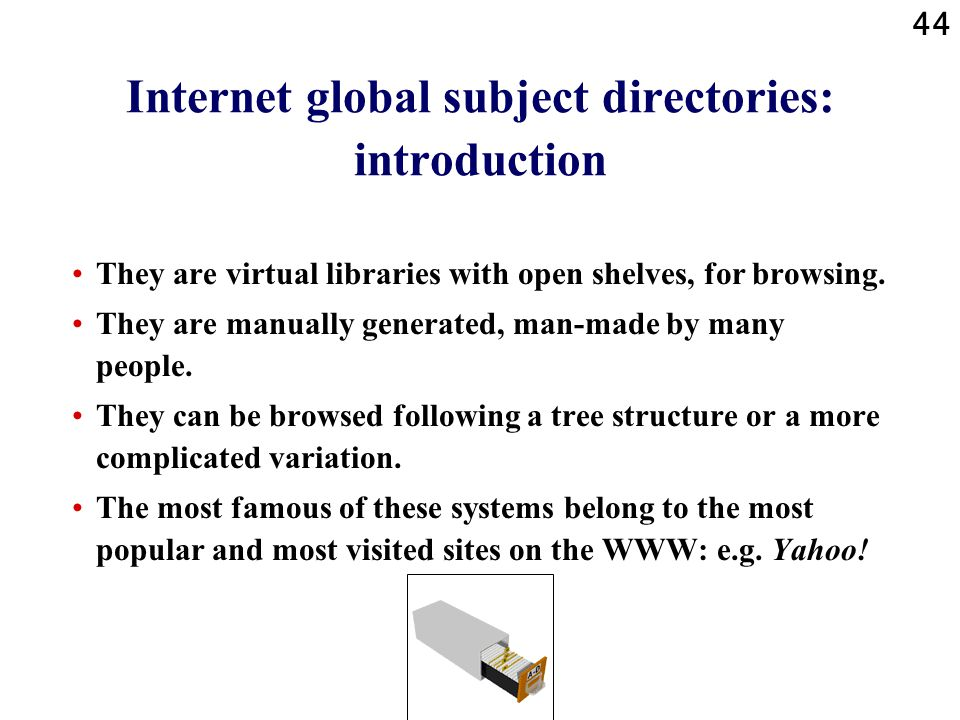 Internet global subject directories: introduction
