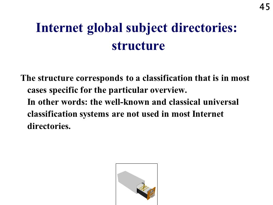 Internet global subject directories: structure