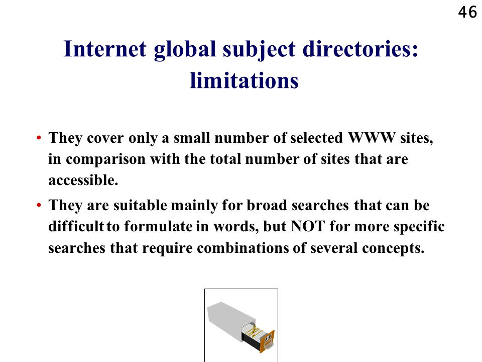 Internet global subject directories: limitations