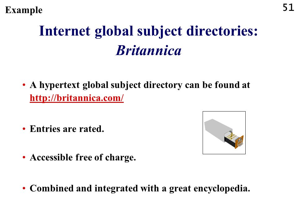 Internet global subject directories: Britannica