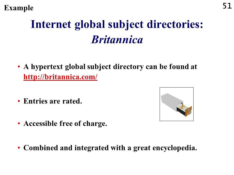 Internet global subject directories: Britannica