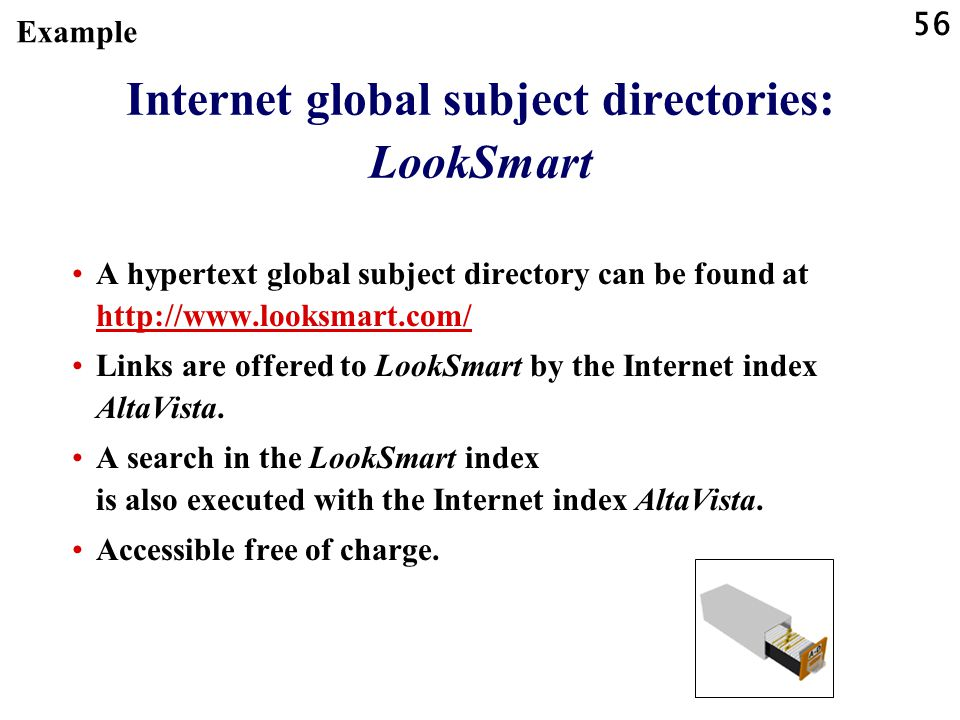Internet global subject directories: LookSmart