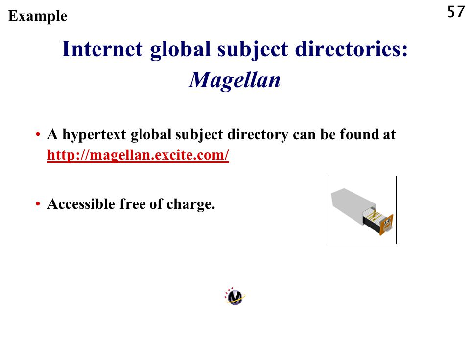 Internet global subject directories: Magellan