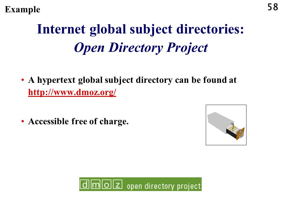 Internet global subject directories: Open Directory Project