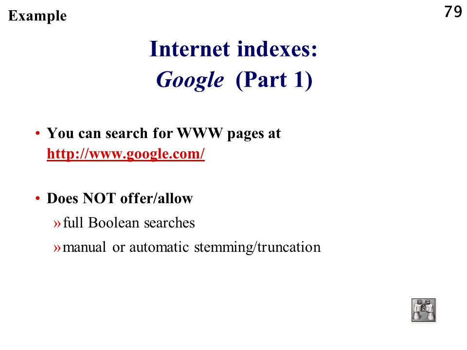 Internet indexes: Google (Part 1)
