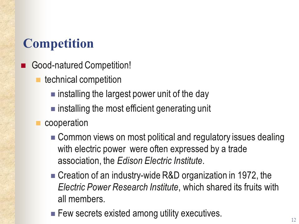 Competition Good-natured Competition! technical competition