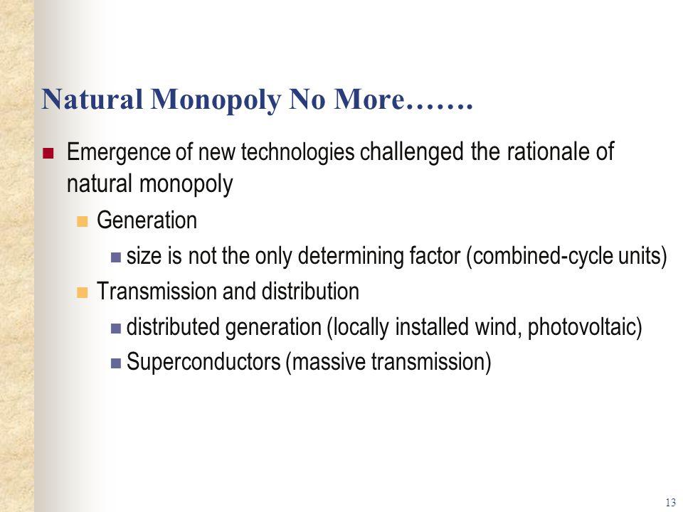 Natural Monopoly No More…….
