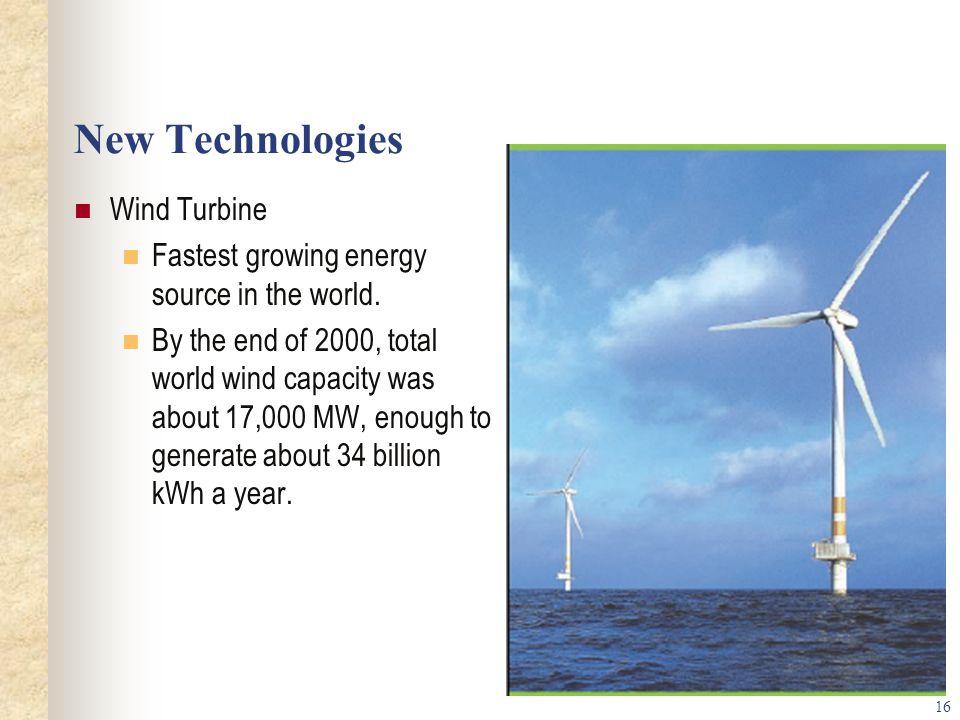New Technologies Wind Turbine
