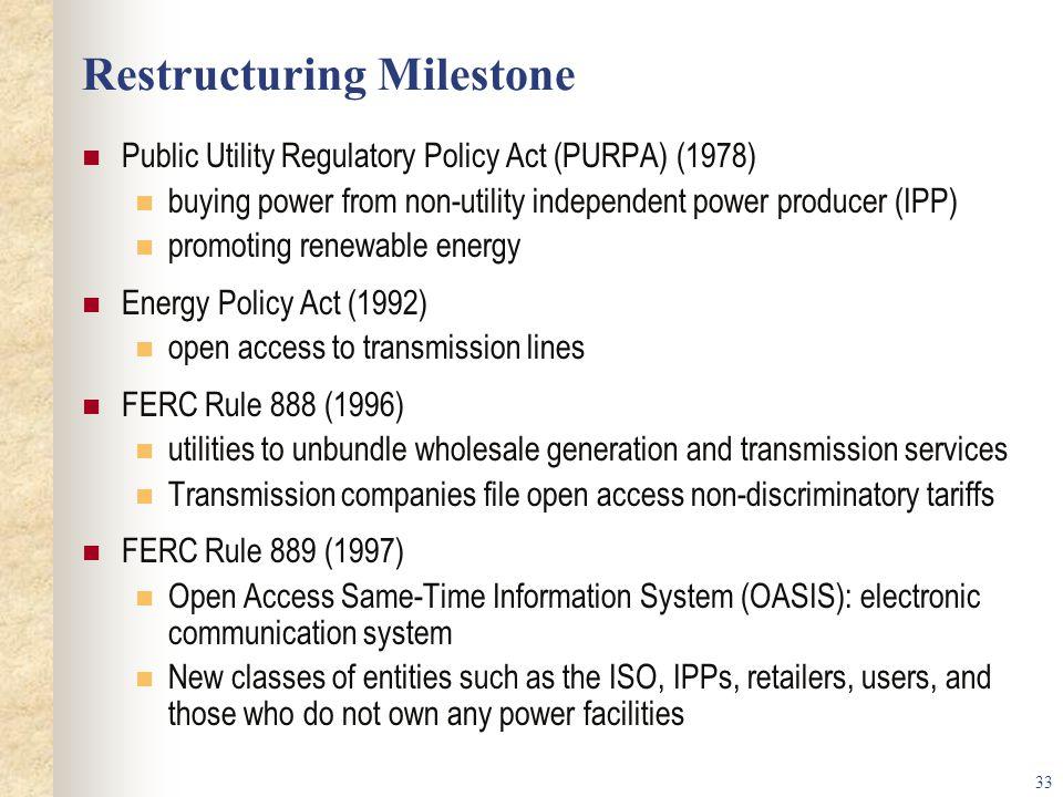 Restructuring Milestone